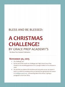 Christmas Challenge Flyer n
