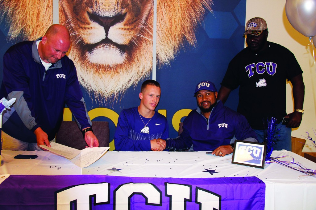 Senior Ryan Champlin signed to run track for TCU in November, months before track season began. He is on track to realize his dream of running for a D1 university.