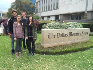 Junior Taelor Hawkins, Senior Jacob Shipley, Junior Lauren Kinney and Sophomore Brooke Duren attended Dallas Morning News Day seminars.