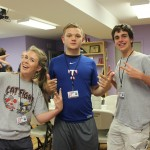 Seniors Macy Noe, James Walsh, and Matthew Chapman spent a week in Nashville two summers ago working at Cottage Grove Outreach Center, along with about 20 of their classmates.
