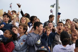 Students grades K-12 came to Waco to support the lions in the State Championship against St. Johns from Shiner. The lions' Senior Brendan Walters scored the first TD.