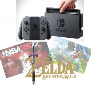 "Nintendo's SWITCH comes out March 3rd and will have awaited games like ""Zelda Breath of the Wild"" available for it."