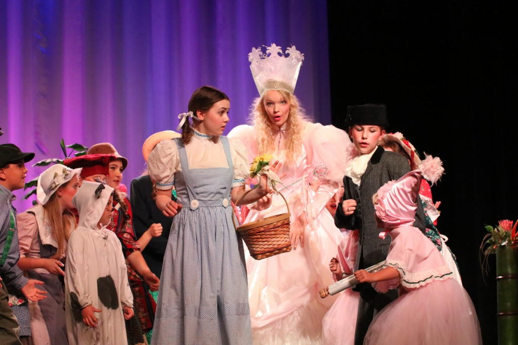 Senior Maggie Bullington played Glenda the Good Witch, and also choreographed the entire show, consisting of 52 cast members in grades K-12.