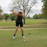 Newcomer Chandley Baldwin made it to regionals her first year playing, and said golf was the highlight of her junior year.