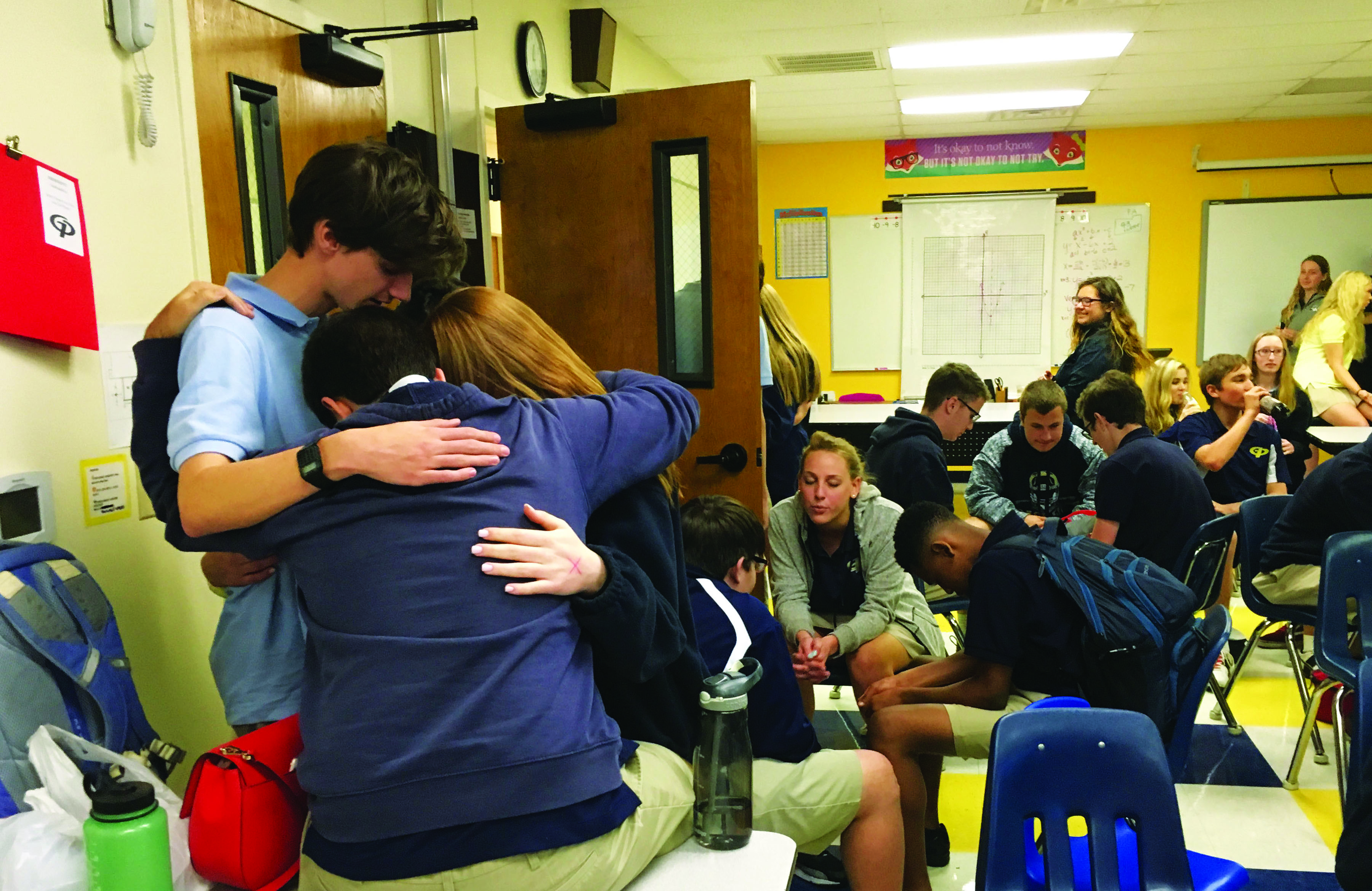Revive is completely student-born and student-led. This allows students to feel free to spend time talking to each other and praying for each other.
