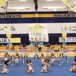 First pep rally in our new gym!